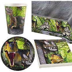 Dinosaurio Ataque vajilla para fiesta para 8