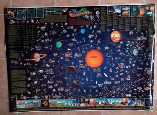 Unser Sonnensystem. Poster- Karte. Format 95 x 135 cm