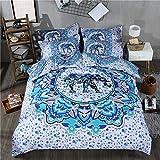 Best Mandala Crafts Friend Matchings - Duvet Cover Set With Pillowcases White Blue Mandala Review