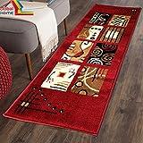 #10: Global Home Best Price Kitchen Carpet Anti Slip -22X55 inch - Red