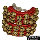 #3: Vishal India Craft Ghungroo Red Pad 2 Line , Ghungru 2 Line Red Pad, Red Pad Ghungroo 2 Line
