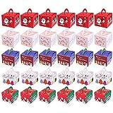 Cotiny, confezione da 30 scatole regalo natalizie per caramelle, sacchetti di carta per decorazioni natalizie, 5 stili