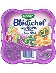 Blédina Blédichef Duo d'Epinards Carottes et Petites Ptes dès 18 mois 260 g