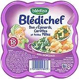 Blédina Blédichef Duo d'Epinards Carottes et Petites Pâtes 260 g
