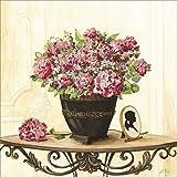 Artland Qualitätsbilder I Wandtattoo Wandsticker Wandaufkleber 100 x 100 cm Stillleben Arrangements Botanik Malerei Creme A4YW Bouquet von roten Hortensien