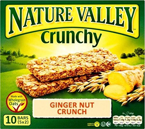 Nature Valley Crunchy Granola Bars - Ginger Nut Crunch (5x42g) - Packung mit 6