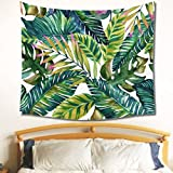 Jeteven Tropical Banana Leaves Tapestry Wall Hanging Mandala Indian Tapestries Hippie Print Tapestry Picnic Beach Sheet Table Cloth 150X130cm C