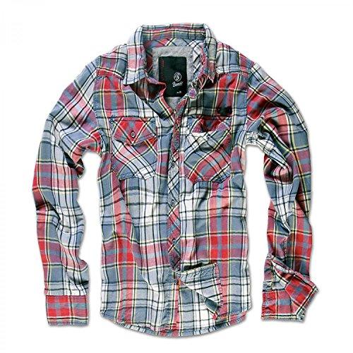 Brandit Checkshirt Rouge / Gris