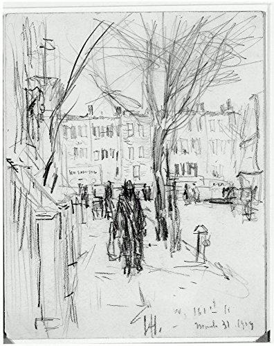 Das Museum Outlet-West 161st Street, New York City, 1919, gespannte Leinwand Galerie verpackt. 40,6x 50,8cm
