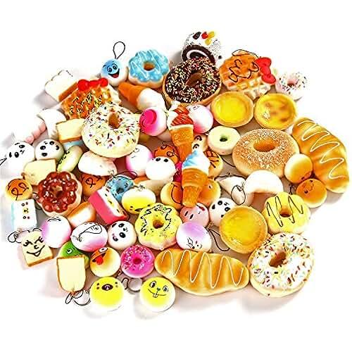 mini kawaii miniaturas kawaii Sea Team (Mixed Lot suave Mini Kawaii alimentos squishies Pan, Helado, Rosquilla, Natillas, Pastel sueve de fruta para teléfono, cadenas de clave y cualquiera proyecto de decoración artisanal.
