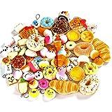 6 pezzi assortiti lotto spugne tema cibo morbido per telefono, portachiavi e decorazioni di bricolage.1 confezione 6 pezzi di spugne casuali, non ripetute.