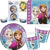 Nordlicht Frozen Eiskönigin Anna & Elsa 102 Teile Party Deko Set für 16 Kinder