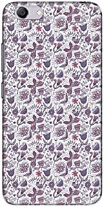 The Racoon Grip printed designer hard back mobile phone case cover for Vivo Y53. (Purple Flo)