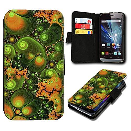 Book Style Wiko Wax Premium PU-Leder Tasche Flip Brieftasche Handy Hülle mit Kartenfächer für Wiko Wax - Design Flip SV81