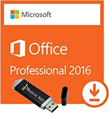 Microsoft® Office Professional Plus 2016 ISO USB. 32 bit & 64 bit - Original Lizenzschlüssel mit USB Stick von Badge Art®