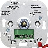 Ehmann 4600x0300 Unterputz Dimmer Geeignet für Leuchtmittel: Energiesparlampe, LED-Lampe, Halogenla