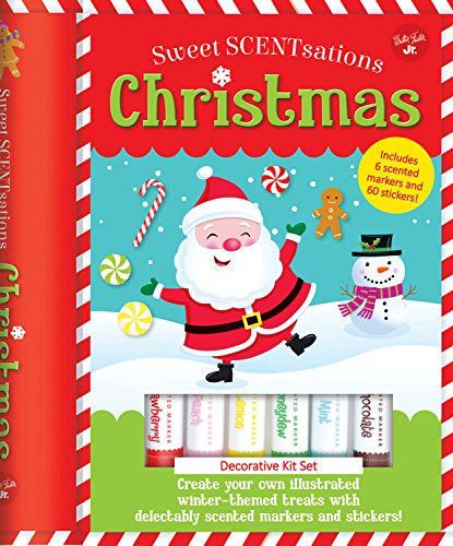 Christmas: Create Your Own Illustrated Winter-Themed Treats with Delectably Scented Markers and Stickers! - Includes 6 Scented Ma (Sweet - Kunst London-themed