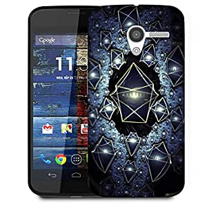 Snoogg Translucent Cuboids 2724 Designer Protective Phone Back Case Cover For Moto X / Motorola X