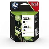 HP 303XL ComboPack 3YN10AE Cartucce Originali ad Alta Capacità da 1015 Pagine in Totale, Compatibile...