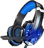 Cuffie Gaming per PS4, Cuffie da Gioco con Leggero Over Ear Cuffie Microfono LED Controllo Volume Bass Stereo…