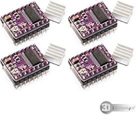 3D Innovations DRV8825 Stepstick Stepper Motor Driver Module + Heat Sink for 3D Printer/MKS board /RAMPS 1.4 Controller Replace A4988 (Pack of 4 pcs)