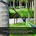 Homitt Ultraleichte Camping Hängematte aus Nylon mit 2m Seile und 2 Karabiner für Reisen, Wandern, Rucksackreisen, Motorrad Trips - Grün und Grau von Homitt - Gartenmöbel von Du und Dein Garten