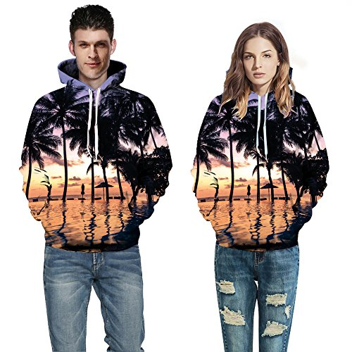 MEI&S Gli uomini/donne felpa hoodie a manica lunga casual tascabile stampato giovane vestito photo