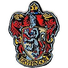 HP cámara de parche de bordado del escudo de Gryffindor Harry Potter casa escudo negro rojo marrón | alta calidad diseño de emblemas de hierro en parche Sew bordado de aplicación de bordado de Applique insignia para ropa chaquetas camisetas abrigos bolsas sombreros Wallets