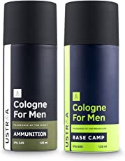Ustraa Base Camp Cologne Spray, 125ml and Ammunition Cologne Spray, 125ml