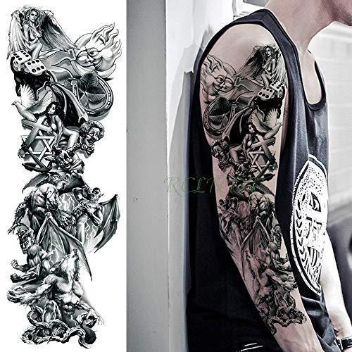 5 stücke Wasserdichte tatoo Tattoo Aufkleber hölle Blut Der Letzte Vampir Werwolf volle arm gefälschte tatto flash tatoo hülse für männer frauen