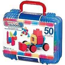 Bristle Blocks BA3081MTZ - Jeu de Construction 1er âge - Blocs de Construction 50 Pièces - Kit de base Valisette