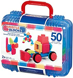 Bristle block 50 piece Basic builder case with handle