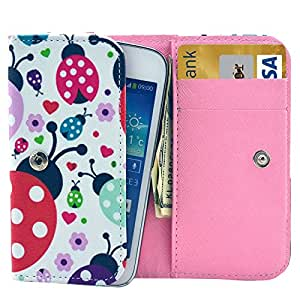 Universal Beetle Pattern Leather Case with Card Slots & Wallet for iPhone 6 & 6S / iPhone 5S & 5C, Samsung Galaxy S4 / i9500 / S3 / i9300