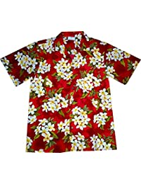 "Chemise Hawaienne Homme ""Summer Flowers (red)"" taille M – 6XL, rouge"