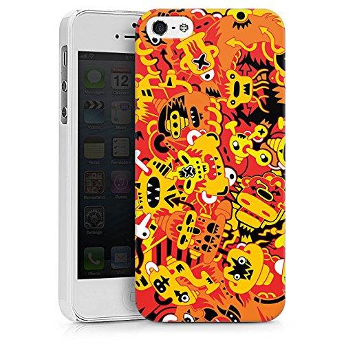 Apple iPhone X Silikon Hülle Case Schutzhülle Fantasie Comic Comicstyle Hard Case weiß
