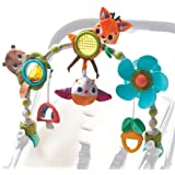 Tiny Love Arche d'activités Articulée Musicale Nature pour bébé , Clip ajustables convenant à la plupart des poussettes, Dès
