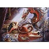 Vlies Fototapete PREMIUM PLUS Wand Foto Tapete Wand Bild Vliestapete - Drachen Prinzessin Hexe Lilith Dämon - no. 3503, Größe:208x146cm Vlies