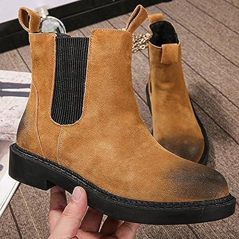 scarpe di cuoio inverno piatto stivali elastico alla caviglia , brown , 35