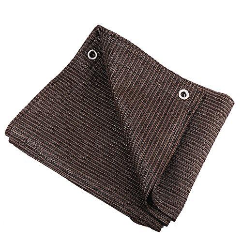 DUO Voiles d'ombrage 95% Bord taped de tissu d'ombre de Brown avec des oeillets pour la couverture de plante pour des fleurs de serre, des plantes, pelouse de patio (Couleur : Brown, taille : 1×1M)
