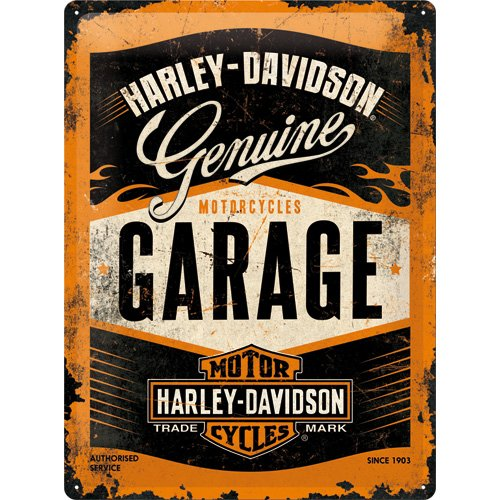 nostalgic-art-23188-metal-sign-harley-davidson-garage-30-x-40-cm