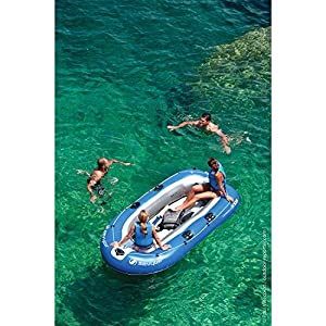 Sevylor Inflatable Boat Caravelle K105, 3 man Dinghy, Inflatable Pool Beach Toy, 294 x 146 cm, built in Motor Mount Fittings for Electric Motor