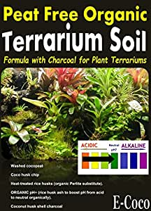 TERRARIUM SOIL WITH CHARCOAL, FOR USE IN GLASS & PLASTIC PLANT TERRARIUMS - READY TO USE (1 LITRE)