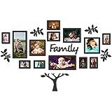 PAPER PLANE DESIGN Family Tree Photo Frames Set (Black) - 13-Piece