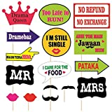 #1: SYGA Party Props Marriage or Party Theme Paper Craft Item, Multi Colour (Set of 16)