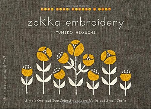 Zakka Embroidery Simple Two Color Motifs