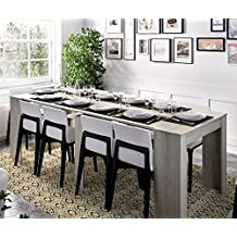 LIQUIDATODO ® - Mesa consola extensible moderna y barata de 51cm a 239cm en gris