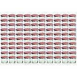 Cap+CroTo 66 Lot de 100 bocaux en verre pour conservation de confiture Couvercles rouges à carreaux Capacité 125 ml