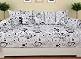 #3: Home Elite Multicolored Cotton Diwan Set ( Pack Of 8 Piece)