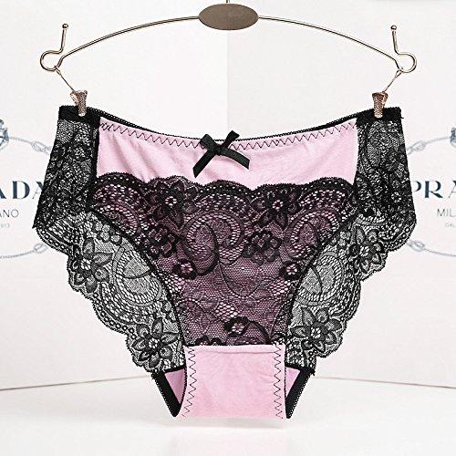 RRRRZ*Ultra-slim-non-marking Unterwäsche Frauen spitze Stoffen und sexy Versuchungen. Taille Hose mit roten Temperament und reiner Baumwolle , Bgb , sind blass (Der Mann Blasse Kostüm)