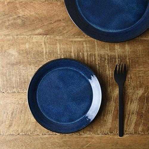 Nordic Bleu Plaque Ronde 【 fabriqué au Japon 】 美濃焼 : Mino Ware 4sheets Lot, Nordic Deep Blue, 6.1inch
